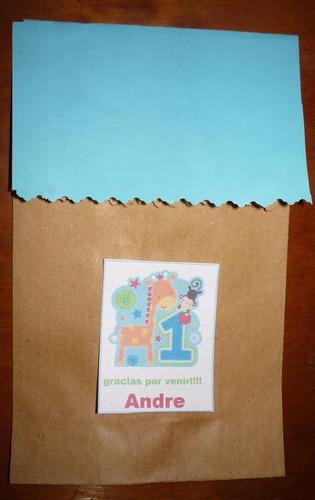 souvenirs de 1 añito bolsitas de papel madera decoradas