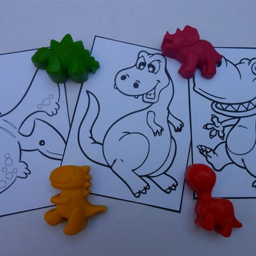 souvenirs  dinosaurios  dinos crayones y laminas  pack x 16