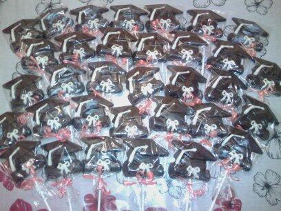 souvenirs egresados 10 paletas chocolate chupetín