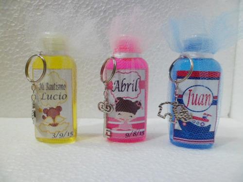 souvenirs infantiles originales x 10 jabon liquido llavero