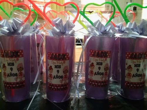souvenirs infantiles. vasos personalizados! varios colores