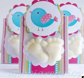 Souvenirs Jabon Piecitos Baby Shower X 25 Frase Grxvenir