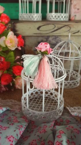 souvenirs jaulita vintage 24 + tarjeta + jaula boda 15