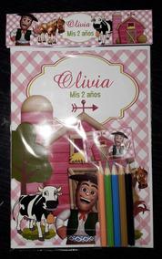 Souvenirs Libro Para Colorear La Granja De Zenon Colores