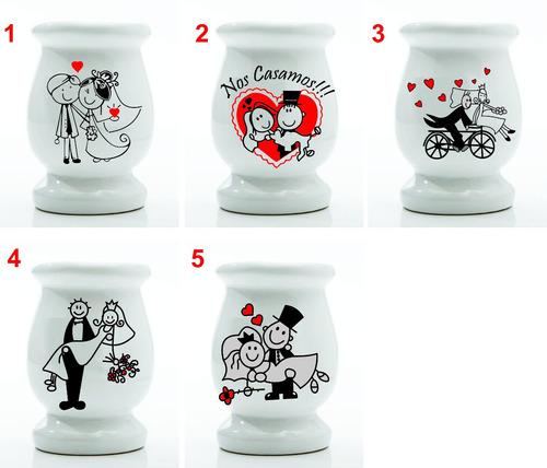souvenirs mate de ceramica, casamientos, 15...etc