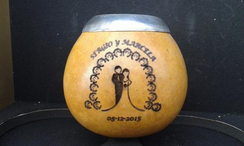 souvenirs mates grabados con bombilla grandes!
