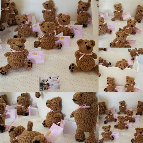 souvenirs muñeco tejido para nacimiento, baby shower