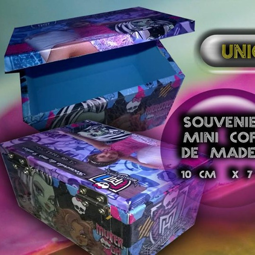 souvenirs original  cofres / cajas de madera pack por 10 uni