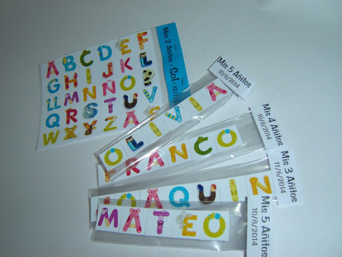 souvenirs originales nombres personalizados imantados x 10/u