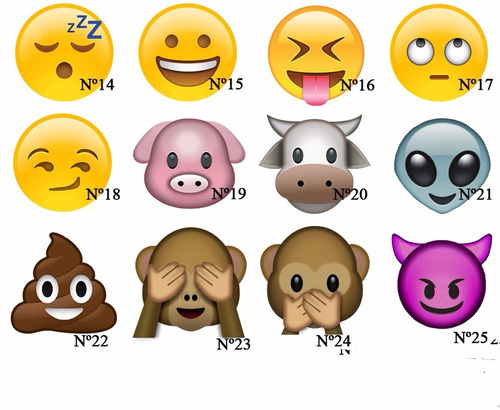 souvenirs personalizados 23 cm - almohadon emoticon emoji