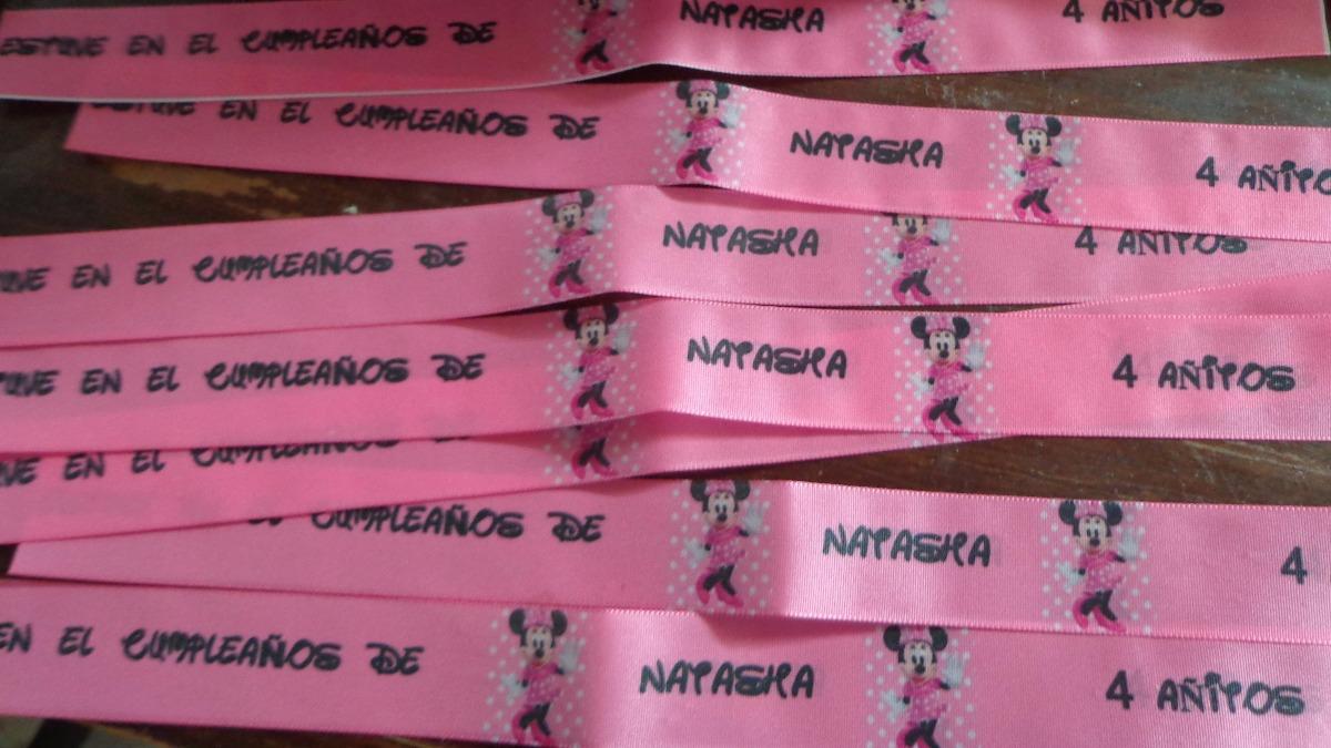 3fba38427a5d Souvenirs Pulseras Cintas Cumpleaños