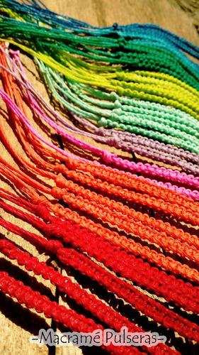 souvenirs pulseras macrame hilo encerado pack x10 unidades