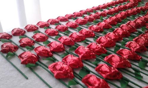 souvenirs rosas de chocolatede dia de la primavera