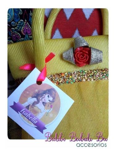 souvenirs tematica carteritas bolsitas cumpleaños princesa