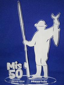 Souvenirs Trofeo Hombre Pescador Cumpleaños 16 18 40 50