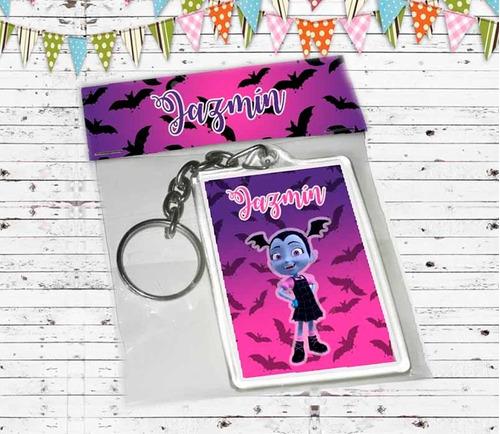 souvenirs vampirina llaveros x 20 packaging incluido
