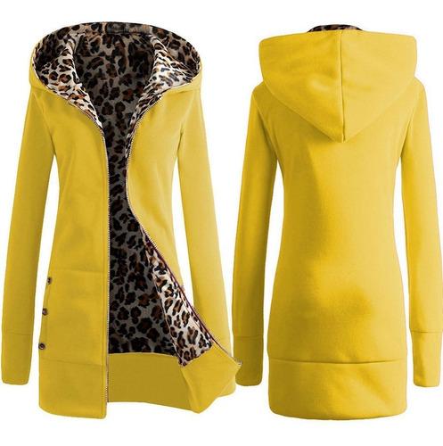 sovalro abrigo de invierno encapuchado gruesa jersey de dama