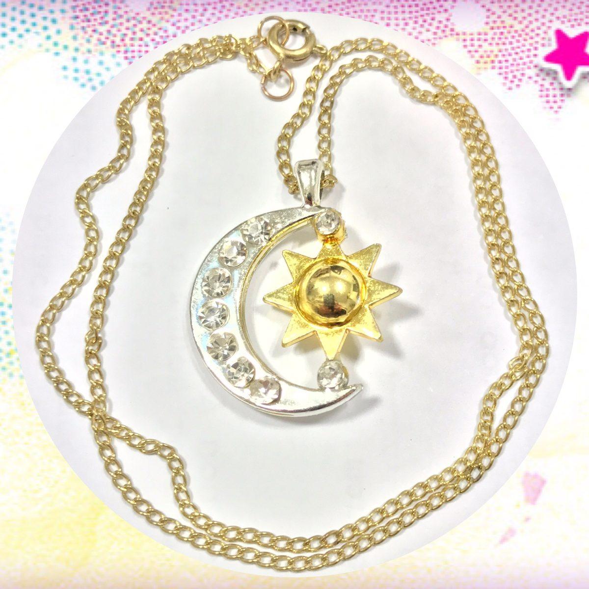venta online suave y ligero diseño atemporal Soy Luna Collar Cadenita Colgante Medallita Dije Luna C/ Sol
