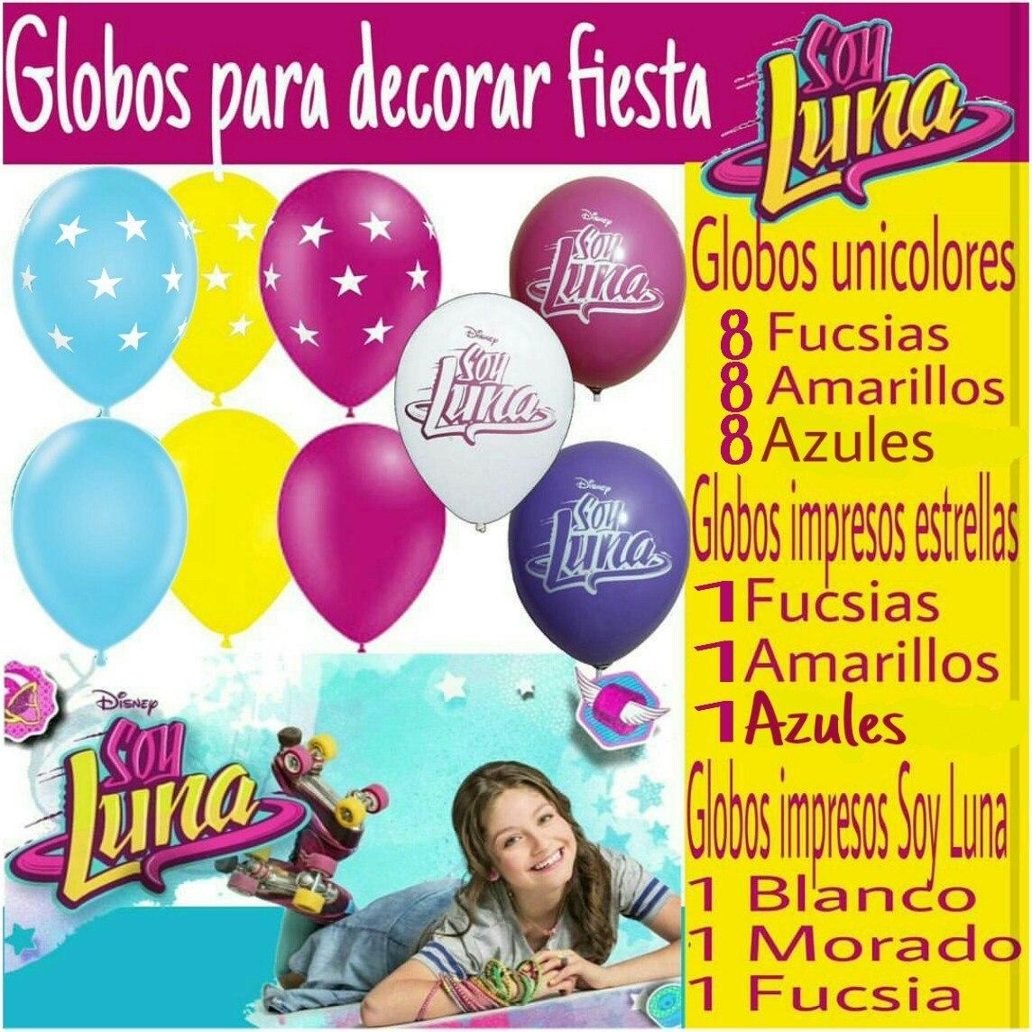 Soy Luna Globos Latex Para Decorar Fiestas 30000 en Mercado