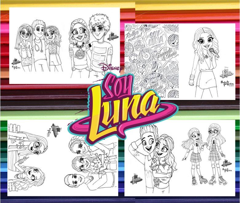 Soy Luna Kit Imprimible Libritos Para Colorear Pintar