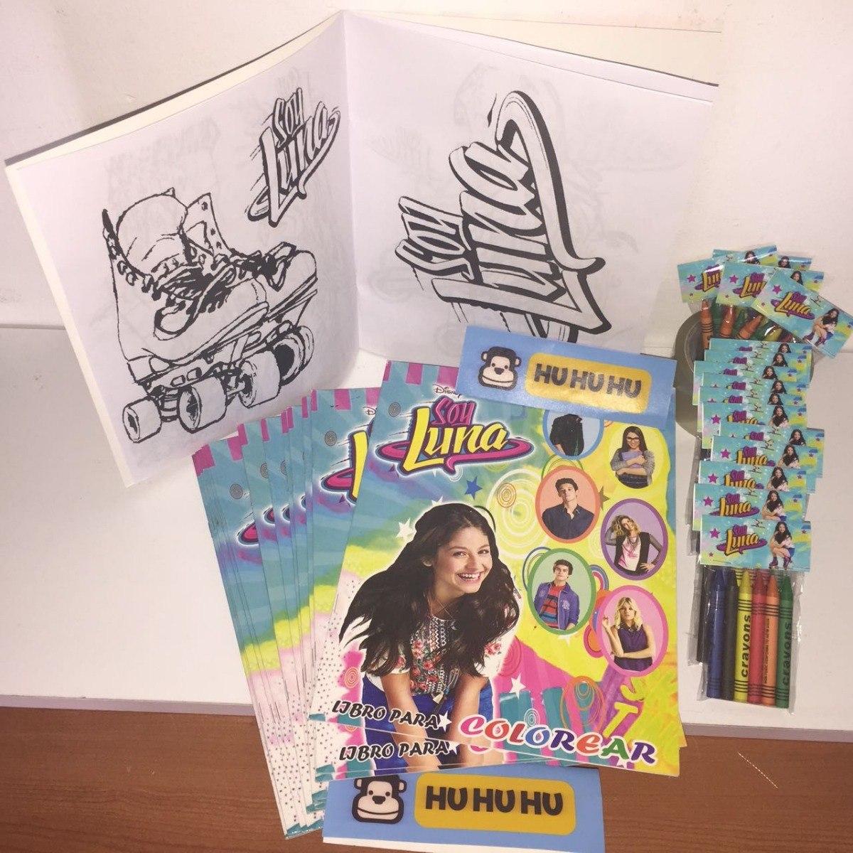 Soy Luna Libro Colorear O Crayolas Bolo Recuerdo