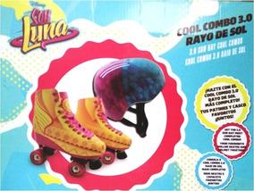 a2653ceafa Soy Luna Patines Rayo De Sol Con Casco Originales Talla 5/6
