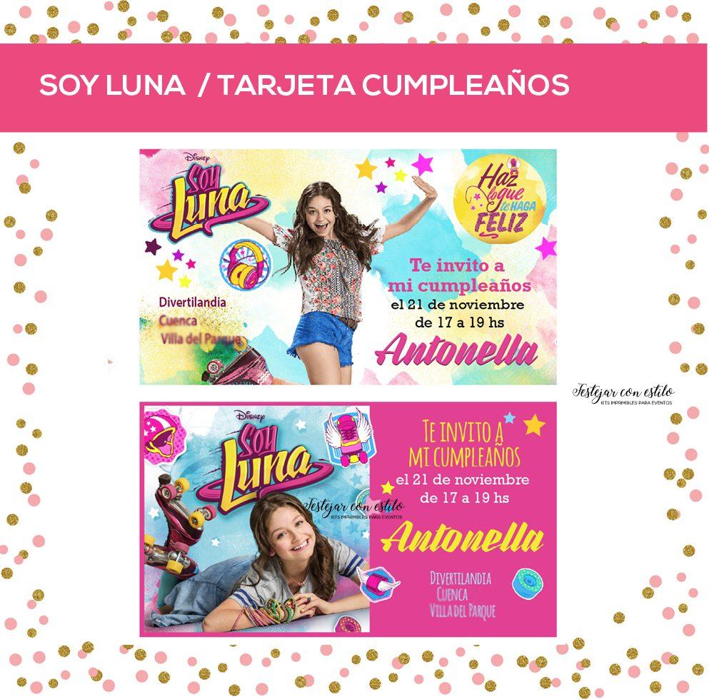 Soy Luna Tarjeta Invitacion Cumple Personalizada 8 00 En