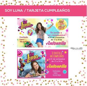 Soy Luna Tarjeta Invitacion Cumple Personalizada Digital