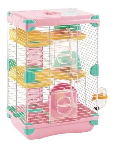 sp-3626 jaula para hamster land adventure sunny rosa