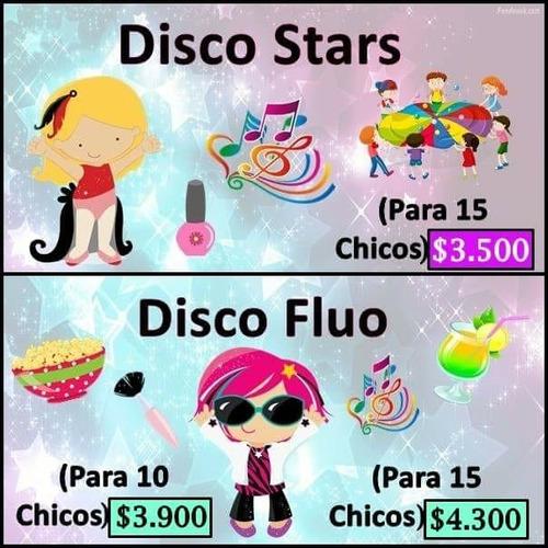 spa fluo-pijamaparty-discofluo-decoart-animacion-cumpleaños