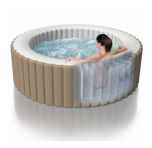 spa hidromasaje inflable intex climatizado + accesorios