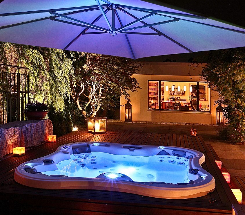 Spa jacuzzi hot tub lujo 6 personas lotus usa piscineria - Jacuzzi de lujo ...