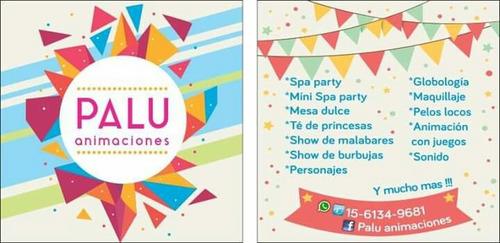 spa party. cocineritas. té de princesas. shows. animaciones.