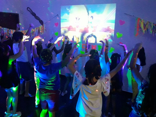 spa party ,fiesta fluor; mini disco y  mini chefs