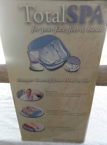 spa tina de pedicure  sauna facial y manos marca  homedics