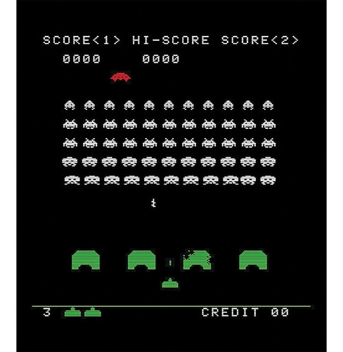 space invaders classic tiny arcade palm tamaño w/authenti