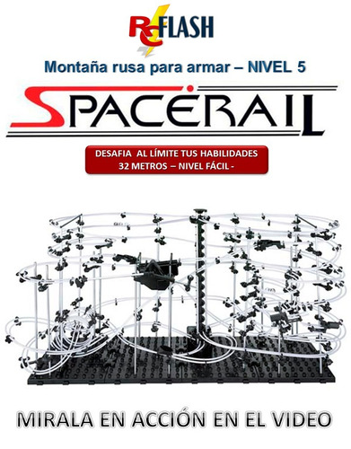 spacerail nivel 5 de 32 mts anti-playstation para armar