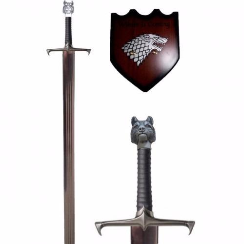 spada jon snow (game of trones) com suporte parede 107cm