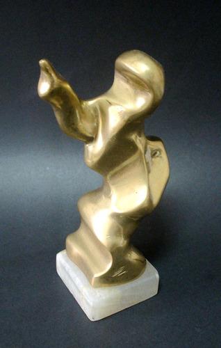 spalletti - escultura bronze assinada 16cm - lenach
