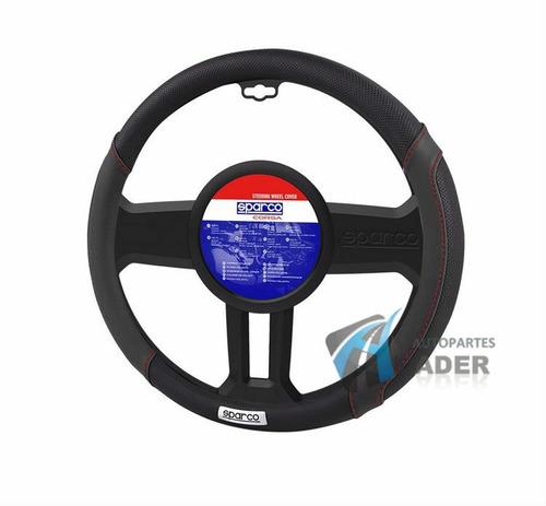 sparco funda cubre volante negra rojo 38 cm universal auto
