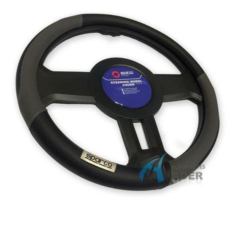 sparco funda cubre volante negro gris 38 cm universal