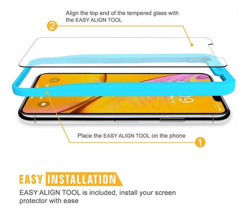 sparin protector de pantalla para iphone xr 4 pack templado
