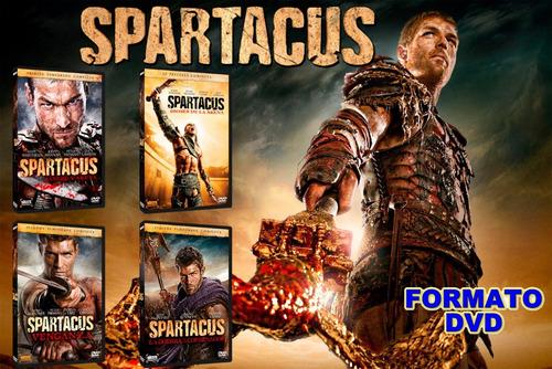 spartacus dvd temporada 1 - 4