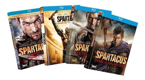 spartacus temporadas 1 a 4 blu-ray importación.