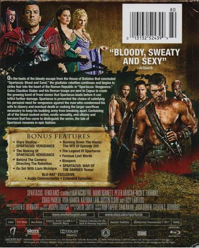 spartacus vengeance segunda temporada 2 dos digibook blu-ray