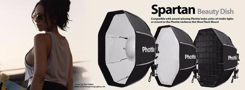 spartan beauty dish octo soft box 70cm c/ panal phottix