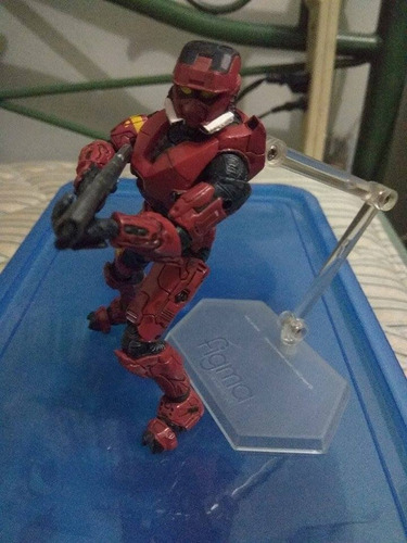 spartan halo 3 eod rojo + rifle de asalto