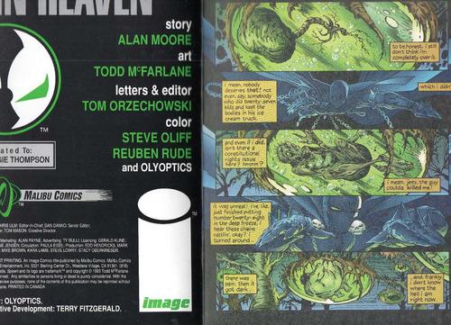 spawn #8, alan moore, 1993,1a. impresión, image cómics,32 p.