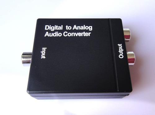 s/pdif óptico coaxial digital a analógico convertidor audio