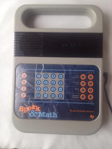 speak & math texas instruments 1987 vintage perfecto